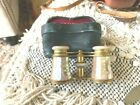 ANTIQUE Lemaire PARIS OPERA GLASSES Binoculars MOTHER OF PEARL BRASS & Case Used