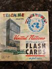 Vintage TEACH ME ABOUT The United Nations FLASH CARD SET 1962 by McGraw Hill