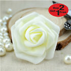 6cm FOAM ROSES pack of 50/100 Colorfast Artificial Flowers wedding decoration UK