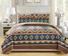 6 Piece Southwest Reversible Bedspread/Quilt with Sheet Set image