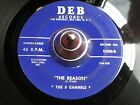 """THE 5 CHANELS: THE REASON /  """" SKIDDILY """" DO 45 ORIGINAL DOO WOP RELEASE"""