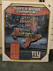 New York Giants Super Bowl XLII Champions Framed Poster 16Wx20L