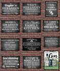 PERSONALISED BEER GARDEN KITCHEN FUNNY METAL WALL SIGN GIFT PRESENT LANDLORD GIN