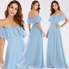 Ever-Pretty Woman Off-Shoulder Long Bridesmaid Dress Ruffle Prom Ball Gowns 0968