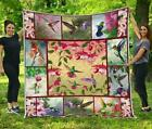 Hummingbirds Are Awesome Fleece Blanket 50x60x80 Made In US