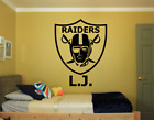"""OAKLAND RAIDERS & NAME CUSTOM WALL VINYL DECAL STICKER REMOVABLE 28x22"""" colors on eBay"""