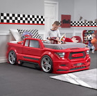Race Car Bed Room Kids Children Furniture Boy Red Truck Home Mattress Twin Size