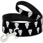 Punisher Logo Black & White Dog Leash by Buckle-Down