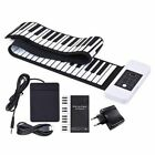 88 Keys Portable Silicon Hand Roll Up Piano Electronic USB Keyboard with One
