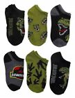 JURASSIC WORLD PARK FALLEN KINGDOM 6-Pack Low Cut No Show Socks Kids Ages 4-16