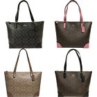 Kyпить Coach F29208 Top Zip City Tote Signature Handbag Khaki Brown Pink Black на еВаy.соm