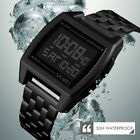 Men Stainless Steel Military Sport LED Digital Electronic Waterproof Wrist Watch image