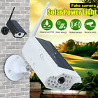 1000LM Solar LED Light Dummy Fake Security Camera PIR Motion Sensor Wall Lamp