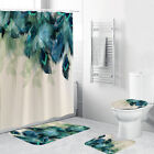 Kyпить 4Pcs/Set Anti-Slip Bathroom Toilet Rug+Lid Toilet Cover+Bath Mat+Shower Curtain на еВаy.соm