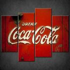 DRINK COCA COLA RETRO KITCHEN CASCADE CANVAS PRINT POSTER READY TO HANG £44.99  on eBay