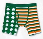 Bioworld Men's St Pattys Day Irish Flag or Gold Clover Novelty Boxer Brief - NWT