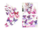 12pcs 3D Decal Colourful Butterflies Wall Stickers Home Room Decoration Kids