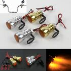 Motorcycle LED Turn Signal Light Amber Lamp For Harley Sportster Dyna Softail
