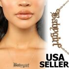 Babygirl Queen Gold Plated Fashion Necklace Silver Custom Name Hip Hop Chain