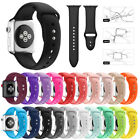 Replacement Silicone Sport Wrist Band For Apple Watch Series 4/3/2/1 42mm 38mm image