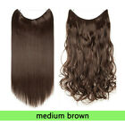 16+Available Colors Halo's Invisible Hidden Hair Extensions Long Thick As Human