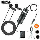 Professional Lavalier Lapel Microphone Omnidirectional Mic for IPhone PC Youtube