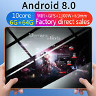 """New 10"""" HD Game Tablet PC Ten Core 6 64G Android 8.0 GPS 3G Wifi Dual Camera US"""