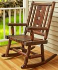 Wood Log Rockers with Star Accents Chair or Bench Porch