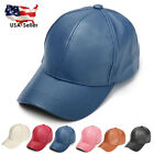 US Baseball Cap Classic Adjustable Strap Boys Mens Ladies Sun Summer Hat Leather