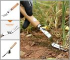 Wooden Handle Digging Puller Garden Manual Weeder Stainless Steel Planting Tools