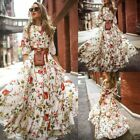 Used, Women Ladies Boho Vintage Maxi Dress Holiday Long Sleeve Evening Party Cocktail for sale  Shipping to Canada