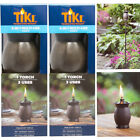 """2pk/4pk Tiki Torches 3-in-1 Outdoor 8"""" Table Lamp, 50"""" Torch, & 64"""" Yard Light"""