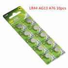 10/20Pcs Button Battery 1.5V LR44 AG13 GPA76 L1154 Powerful Coin Button Cell