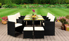 9 11 13 PIECE RATTAN GARDEN CUBE SET CHAIRS SOFA TABLE OUTDOOR PATIO FURNITURE