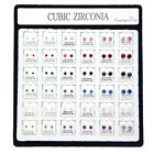 Hip hop Men's Single Zircon Ear Claws Inlaid with Diamonds Earrings 36 Pairs