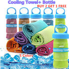 Outdoor Ice Cold Cooling Towel Running Jogging Gym Chilly Pad Sport Yoga+bottle image