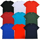 Tommy Hilfiger Mens T-shirt V-NECK Classic Fit Flag Logo Short Sleeve Solid New image