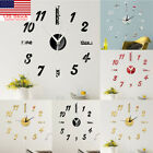 Large Wall Clock Big Watch Decal 3D Stickers Roman Numerals DIY Wall Home Decor