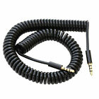 Black Coiled AUX Jack Cable Wire For  SK-Phone X5