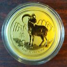Australia 2015 Gold $50 Year of The Goat 1/2 oz Proof