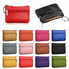 Women Leather Coin Card Key Ring Wallet Pouch Mini Purse Zipper Small Change Bag image
