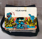 GRAFFITI LARGE MESSEGER SCHOO/COLLEGE BAG PERSONALISE FREE