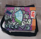 GRAFFITI 2 LARGE MESSEGER SCHOO/COLLEGE BAG PERSONALISE FREE