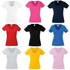 Fruit Of The Loom Ladies Lady-Fit Valueweight V-Neck Short Sleeve (BC1361)