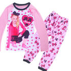 JoJo Siwa Kids Girl Pyjamas Casual Cartoon Nightwear Soft Leisure Suits New