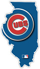 Chicago Cubs Illinois State Baseball Logo Vinyl Sticker Decal Cornhole Wall Car on Ebay