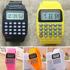 Children Kids Wrist Watches Digital Calculator Watch Students Learning Gift image