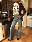 Bliss And Mischief Rockstar Levis Flare Jeans Hippie 1 S 28 Boho Woodstock Rock