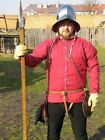 12th Century Medieval Gambeson Reenactment Roman Fighting Armor Red Color