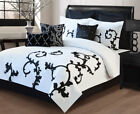 9 Piece Duchess Black and White Comforter Set image